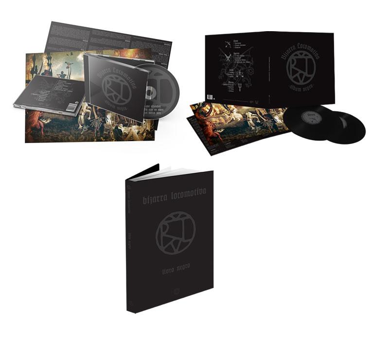 BIZARRA LOCOMOTIVA - Álbum Negro (CD + 2LP + Livro)