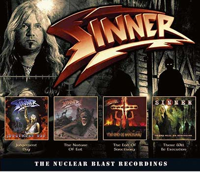 SINNER - The Nuclear Blast recordings