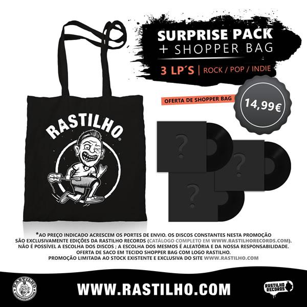 V/A COMPILAÇÃO PT - Surprise Pack - 3 LP´s (Rock / Pop /  Indie / Punk)