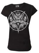Pentagram Baphomet Womens T Shirt