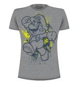 Nintendo Mario, Grey , Tshirt