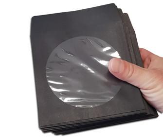 - CD paper sleeves claps black (Pack 50)