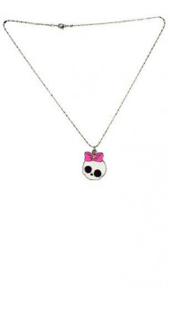Bow Skull Necklace