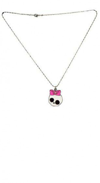- Bow Skull Necklace