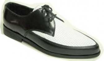 - Steelground black-white perforated leather