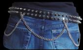2 Row Spike Stud with Chain