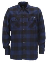 Sacramento flannel check shirt blue/black