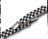 Suspenders black/white checkerboard