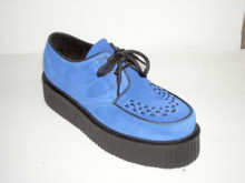 Steelground  Double d-ring creeper shoe blue suede