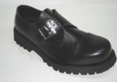 3 eye monk shoe black leather