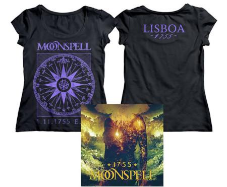 - 1755 Compass Lisboa Logo Girlie Tshirt (Purple) + CD