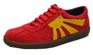 Sun sneaker red/mustard suede