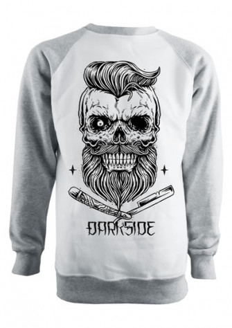 - Bearded Skull Grey and White Sweatshirt