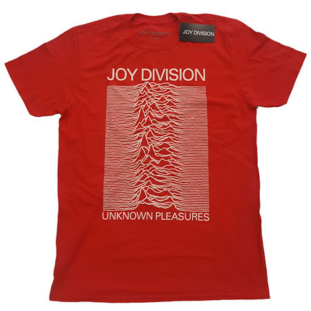 Unknown Pleasures White On Red