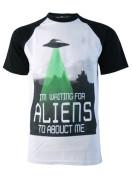 Alien Abduction Baseball T-Shirt