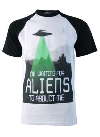 - Alien Abduction Baseball T-Shirt
