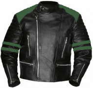 Old School Green-Black Leather