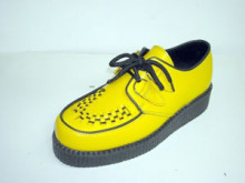 Steelground Single lace creeper shoe yellow leather