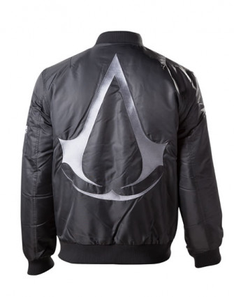 - Assassin's Creed - Bomber Jacket with Crest Logo on Back