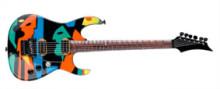 """JOHN PETRUCCI - DREAMTHEATER: JPM """"multi colour Picasso"""" style."""