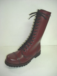 Steelground 14 eye boot cherry leather