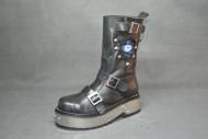 Destroyer punk boot black grain and lucifer detail