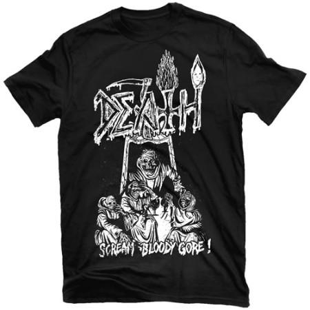 Scream Bloody Gore Line Art (Black)