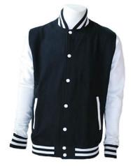 Navy and White Varsity Jacket