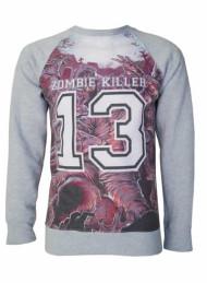 Zombie Killer Blue Sweatshirt