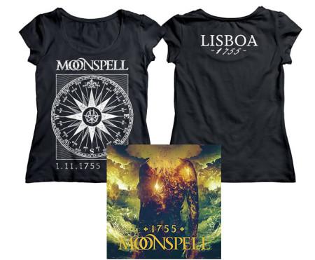 - 1755 Compass Lisboa Logo Girlie Tshirt + CD