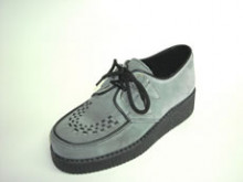 Steelground  Creeper black-grey suede d-ring shoe