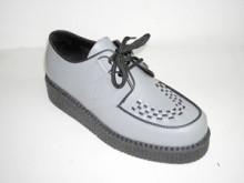Steelground  Single lace creeper shoe grey leather