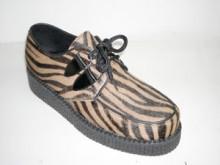 Steelground  Single lace creeper shoe capucino zebrino