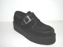 Steelground  Double monk creeper shoe black suede
