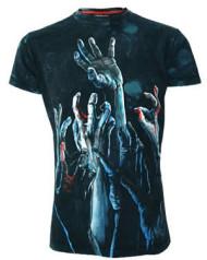 Zombie Hands Blue Vintage Wash T-Shirt