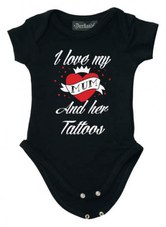 - I Love My Mum And Her Tattoos Baby Grow