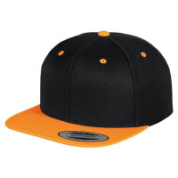 The classic snapback 2-tone (Black / Neon Orange)