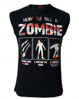 - How To Kill A Zombie Muscle Vest