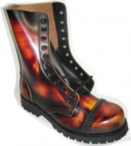 Steelground  Steel 10 eye boot Tri leather