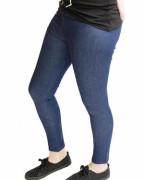 Blue Denim Leggings