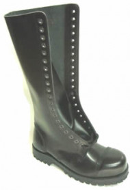 Steelground  Steel 20 eye boot black leather