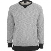 Melange Terry Crewneck Sweatshirt grey/charcoal