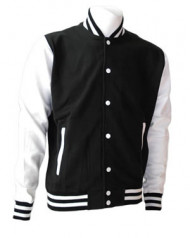 Black and White Varsity Jacket