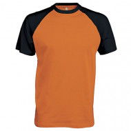 Baseball contrast t-shirt (Orange)