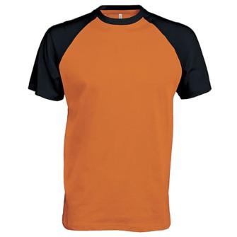 - Baseball contrast t-shirt (Orange)
