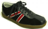Steelground black red suede-leather