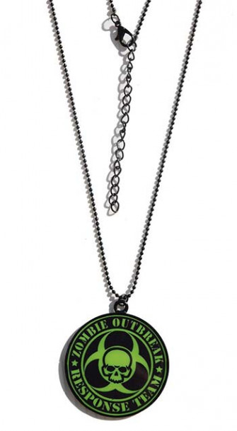 - Green Zombie Response Team Necklace