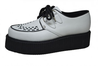 - Double Sole Creeper Grey Leather