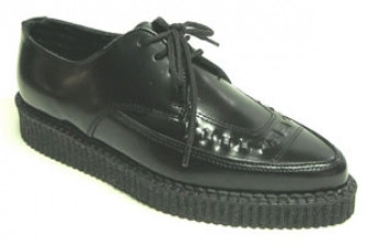 - Steelground Single lace pointed creeper shoe