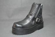 Motard boot black grain